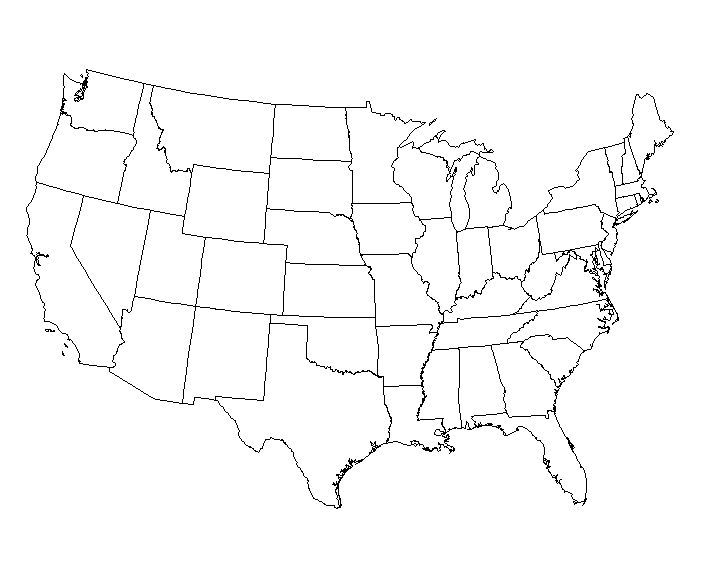 USA Blank Map Blank States Map Dr Odd Blank Usa Map Test Usa Get - Blank us map printable